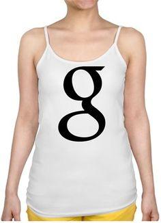 Google - Google - Kendin Tasarla - Bayan İnce Askılı Atlet