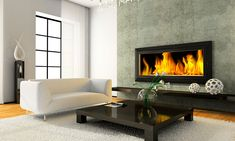 Buy View on the modern interior with fireplace by on PhotoDune. View on the modern interior with fireplace rendering Interior Design Principles, Interior Design Elements, Fireplace Hearth, Fireplace Design, Gas Fireplaces, Fireplace Ideas, Electric Fireplaces, Corner Fireplaces, Simple Fireplace