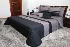Šedě černý prošívaný přehoz do ložnice Relax, Furniture, Home Decor, Homemade Home Decor, Home Furnishings, Decoration Home, Arredamento, Interior Decorating