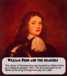 The colony of Pennsylvania was founded in  by William Penn in 1681. At the time, Pa was one of the largest areas discovered. Pennsylvania was named after Admiral Penn. It means Penn's Woods. Penn established a government based upon religious freedom of the Quakers.  The colony's religious tolerance soon attracted German and Scottish immigrants, and helped establish the Pennsylvania Dutch Community. #goPenn #Pahistory #history #theorginals