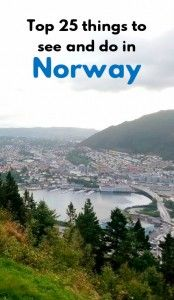 Top 25 things to see and do in #Norway #travel #Europe