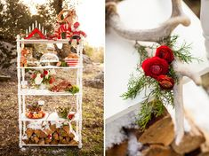 the white shelf Swedish Christmas Wedding Inspiration