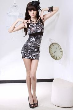GREY ZEBRA PRINT OMBRE CUTOUT BACK RUCHED SEXY MINI DRESS $24.99 http://www.amiclubwear.com/clothing-dress-aaa9-7352greyzebra.html#