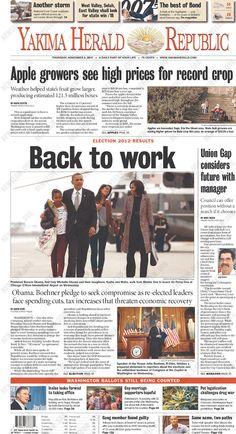 Yakima Herald-Republic, published in Yakima, Washington November 8, 2012