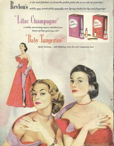 Vintage Revlon matching nail color to hair colors.