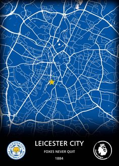 Leicester City FC by Original Maps
