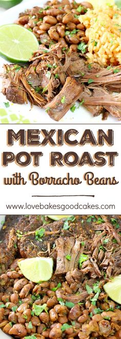 Mexican Pot Roast with Borracho Beans Talk about a flavor explosion in your mouth! This Mexican Pot Roast with Borracho Beans recipe will become a new family favorite! Slow Cooker Recipes, Crockpot Recipes, Cooking Recipes, Healthy Recipes, Game Recipes, Vegetarian Recipes, Chicken Recipes, Recipies, Mexican Dishes