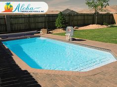 Diablo 1a: The Modern models are aesthetically pleasing designs with clean, sleek lines.  The Diablo is a modern shaped fiberglass pool that is 15'x33' and goes to 7' in depth.  For more information about Aloha Fiberglass Pools or to find a local pool builder in your area that can assist you, visit www.AlohaFiberglassPools.com or call (800) 786-2318.