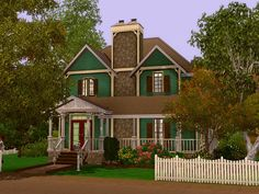 This house is for a family of about 4 to 5 sims.  Found in TSR Category 'Sims 3 Residential Lots'