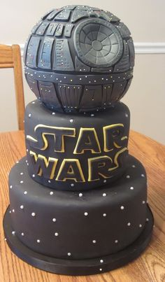 Star Wars Death Star cake made for a friend's friend's...