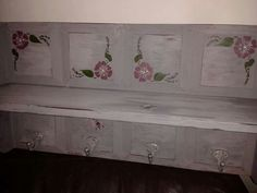 Bumble Bee Vintage painted shelf, shabby chic style...