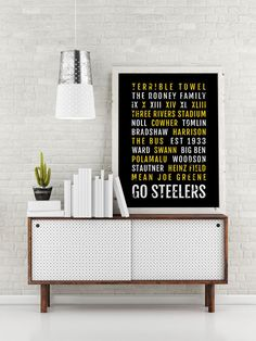 Pittsburgh Steelers Print -  Steeler - Subway Poster, Boyfriend Gift, Husband Gift, Wall Art, Train Scroll, Bus Scroll, Word Art, Typography by Sproutjam on Etsy https://www.etsy.com/listing/259123913/pittsburgh-steelers-print-steeler-subway
