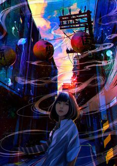 This nostalgic school girl's illustrations is the work of an impressive Japanese digital artist, Since 2015, the artist has unveiled their works through various social media such as on Twitte...