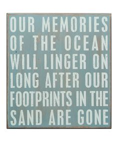 'Memories of the Ocean' Box Sign