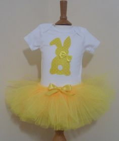 Easter bunny tutu set bunny bodysuit top and by Inspiredbyababy
