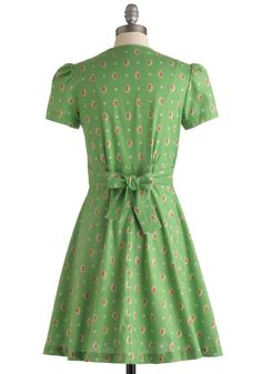 Floral Field Day Dress in Bouquet. Wrap yourself in chic style when you button into this ModCloth-exclusive floral dress by Bea  Dot for your day off! #green #modcloth