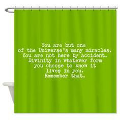 You Are A Miracle Shower Curtain > EMPOWER SHOWER > Spiritmedicine111