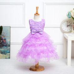 27.51$  Buy now - https://alitems.com/g/1e8d114494b01f4c715516525dc3e8/?i=5&ulp=https%3A%2F%2Fwww.aliexpress.com%2Fitem%2FGirls-dress-skirts-in-the-autumn-of-2016-Korean-new-high-end-wedding-flower-girl-dress%2F32709293954.html - Cute Girls Dress Autumn 2016 New High-end Wedding Child Costumes Ball Gown Party Wedding Occasion Communion Kids Dress