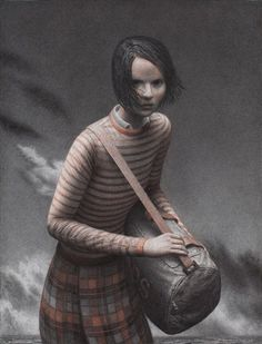 aron wiesenfeld - landfall. (charcoal and sanguine on paper - fabulous.)