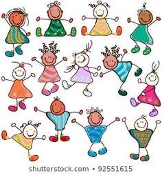 Immagini, foto stock e grafica vettoriale simili a tema Cute Happy Kids - 77437411 | Shutterstock