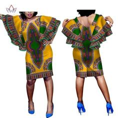 Beautiful African Women's Wax Dashiki Print African Dresses for Women Plus Size Elegant Long Butterfly Sleeve Casual Dress Latest African Fashion Dresses, African Print Dresses, African Dresses For Women, African Print Fashion, Africa Fashion, African Wear, African Attire, Next Clothes, Clothes For Women