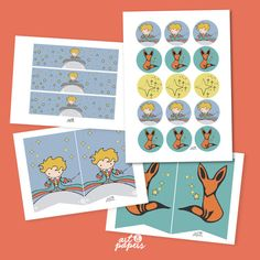 Welcome to Art&Papers The little prince Printable Party kit Includes cupcake toppers, water bottle labels and banner. This kit is ready to print at home or at a print centre (as many times as you need to).