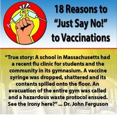 Say NO! to the flu vaccine