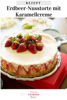 Erdbeer-Nusstorte mit Karamellcreme Naked Cake | Traumhafte Torten Rezepte