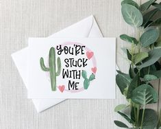 You're Stuck With Me - Valentine's Day Card