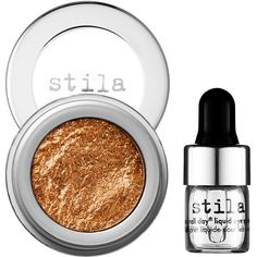 stila Magnificent Metals Foil Finish Eye Shadow ($32) ❤ liked on Polyvore featuring beauty products, makeup, eye makeup, eyeshadow, shiny eyeshadow, stila eyeshadow, stila and stila eye shadow