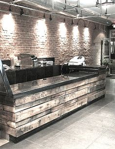 DIY Store counter. Made from pallets.