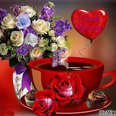 Tea Cafe, Bible Prayers, Blessings, Good Morning, Beautiful Landscapes, Buen Dia, Bonjour, Good Morning Wishes