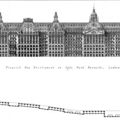 Proposal for the Hyde Park Barracks site, London, by Francis Terry 2015