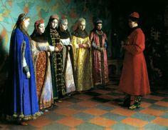 SEDOV Gregory - Choosing bride Tsar Alexei Mikhailovich. 200 Russian painters • download painting • Gallerix.ru