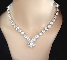 Swarovski Crystal Wedding Jewelry Set Brides Bridal Earrings And Necklace Sophia