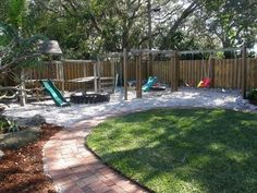EXACTLY what I want~ a kid friendly back yard.