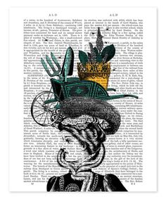 Loving this Victorian Lady & Gardening Hat Dictionary Print on #zulily! #zulilyfinds