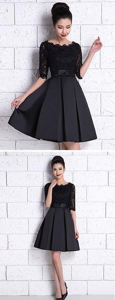 New Dress Black Pink Bridesmaid Ideas Trendy Dresses, Nice Dresses, Casual Dresses, Formal Dresses, Champagne Bridesmaid Dresses, Knee Length Bridesmaid Dresses, Bridesmaid Ideas, New Dress, Lace Dress