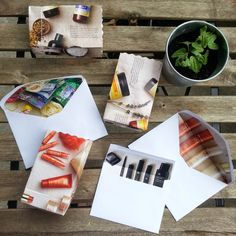 Upcy: DIY Bags & Envelope Liners Made From Recycled Arbonne Catalogues