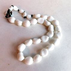 Vintage Miriam Haskell White Art Glass Bead by vintagedazzle