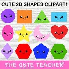 Clipart Smiley, Cute Clipart, Circle Square Triangle, Shape Pictures, Art Sites, More Cute, All Design, Art Images, Elementary Schools