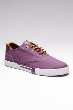 Purple canvas pumps