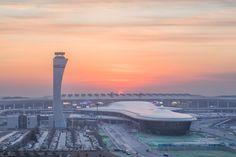 Xinzheng International Airport Terminal 2 in Zhengzhou by CNADRI