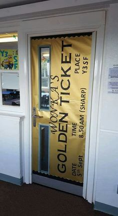 Golden ticket door
