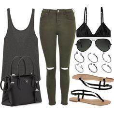 Style #7998 by vany-alvarado on Polyvore featuring LnA, Topshop, Monki, ASOS, Prada and Ray-Ban