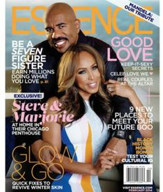 Black Love on ESSENCE Covers Through the Years; Steve and Marjorie Harvey Make a Second Appearance This year, Steve Harvey and his wife Marjorie Harvey paid ESSENCE readers another visit for the February issue to discuss the power of love. Famous Couples, Real Couples, Celebrity Couples, Cutest Couples, Power Couples, Celebrity News, Celebrity Style, Steve Harvey Family, Steve Harvey Quotes