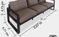 Diy Furniture Chair, Iron Furniture, Diy Outdoor Furniture, Steel Furniture, Furniture Design, Wooden Sofa Set, Wood Sofa, Sofa Design, Smart Furniture