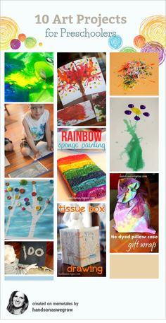 Creative art projects for preschoolers to do