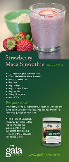 #Maca #smoothie recipe