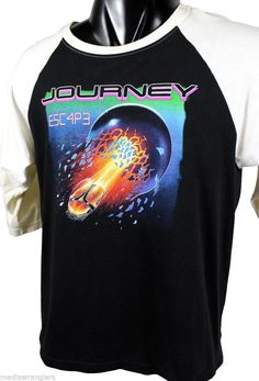 Vintage 1981 Journey t-shirt from the album Escape.  Awesome baseball tee!